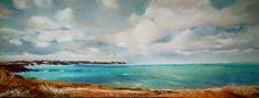 Commande panoramique pastel sec - bretagne - www.douzamy.com Saint Coulomb, Saint Servan, Brest, Portraits, Isabelle, Pastel, Waves, Outdoor, Flowers