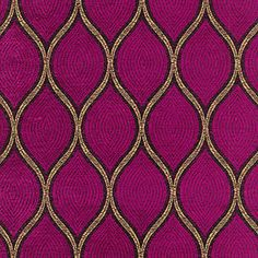 """""""Malta, Tourmaline""""  55"""" wide 51% Polyester 49% Rayon  From the """"Timeless Treasures"""" collection by Iman Home. Add some luxurious, soft texture and worldly class with this woven fabric in intense jewel toned fuchsia with metallic gold thread accent. Pattern repeat is 5"""" Vertical by 2.5"""" horizontal.  Made of 51% Polyester and 49% Rayon. Weighs 430 grams per yard or 15 ounces and is suitable for upholstery, drape panels, pillows, cushions and other soft furnishings.  $24.95/yd"""