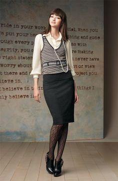 Feminine office wear.