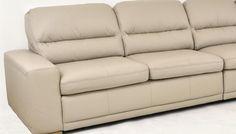 Kožená sedačka do obýváku s úložným prostorem