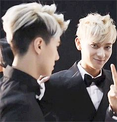 "Omg. Okay this is sehun ""tao..tao..let's make them cry and scream!!"" Tao ""okay let's do it!!!!!"" Sehun ""follow me!"" -____- world's cutest maknaes. So done right now."