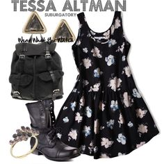 Inspired by Suburgatory character Tessa Altman played by Jane Levy.