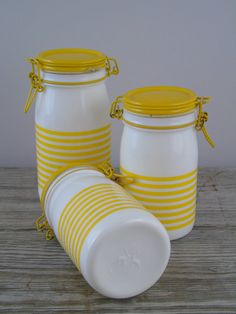 Vintage Kitchen Jars Cerve Italy Canisters by 777VintageStreet