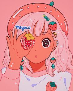 "meyo 🌸's Instagram photo: ""Peek-a-berry 🍓"""