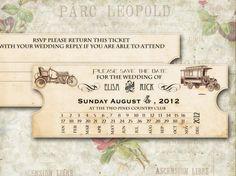 Printable VINTAGE WEDDING INVITATIONS - New Orleans Suite (Save the date card) by Elisa H.