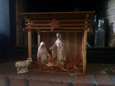 Handmade Creche From Pallets With Nativity Set Made From Recycled T Shirts And Fabrics Merry