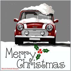 Have a very Merry Christmas! Or a very Mini Christmas Mini Cooper S, Very Merry Christmas, Christmas Fun, Holiday, Classic Mini, Classic Cars, Micro Rc, Mini Morris, Morris Minor