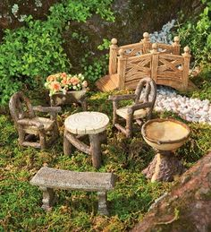 Woodland Fairy Garden Resin Furniture Set Plow & Hearth,http://www.amazon.com/dp/B009ZH3OVQ/ref=cm_sw_r_pi_dp_7dPZsb16BXSME08E