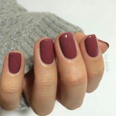 Burgundy nail color, dusty maroon nail color