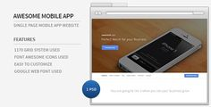 See More Awesome Mobile App - Single Page PSD Templatetoday price drop and special promotion. Get The best buy