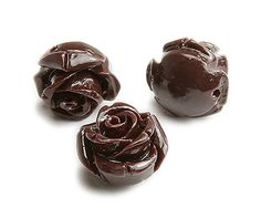 Chocolate brown natural coral rose flower beads (15mm, pack of 10)