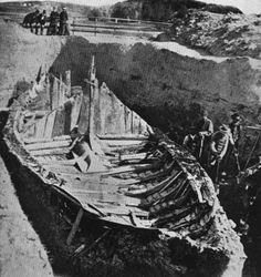 Gokstad viking ship excavation