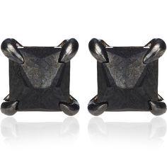Eva Fehren Black Diamond Pyramid Studs (€1.865) ❤ liked on Polyvore featuring jewelry, earrings, brincos, silver, black diamond jewellery, pyramid stud earrings, 18 karat gold stud earrings, stud earrings and petite jewelry