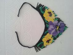 This Pin was discovered by Seh Fringe Necklace, Seed Bead Necklace, Beaded Earrings, Beaded Jewelry, Beaded Bracelets, Necklaces, Beaded Bracelet Patterns, Beading Patterns, Bead Crochet