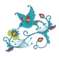 Jacobean Hummingbirds Set, 10 Designs - 5x7 | What's New | Machine Embroidery Designs | SWAKembroidery.com
