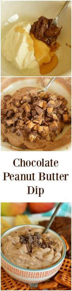 """Chocolate Peanut Butter Dip! Don't let the """"skinny"""" part fool you! This stuff is addicting!"""