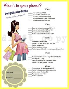 Whats In Your Phone Baby Shower Game, Phone Game, Yellow, Gender Neutral, Baby  Shower Games, Printable, Instant Download