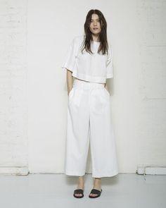 Apiece Apart Taiyana Wide Leg Pant | @andwhatelse
