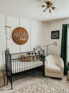 Looking for the perfect nursery decor ideas for your little one? There are so many seriously sweet nursery decor from Etsy! Nursery Room Decor, Nursery Wall Art, Girl Nursery, Black Crib Nursery, Accent Wall Nursery, Nursery Ideas, Elephant Nursery, Crib Wall, Boy Nursery Bedding