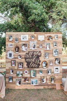 decoração bodas de pérola com mural de fotos #bodas #bodasdeperola #bodas #casamento