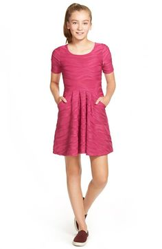 Trixxi Wave Knit Skater Dress (Big Girls) available at #Nordstrom