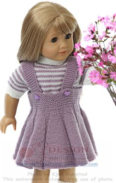 Doll knitting summer fashion