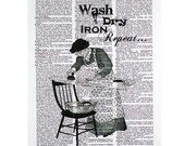 Loads of Fun Laundry Print on a Vintage Dictionary Page. $9.99, via Etsy.