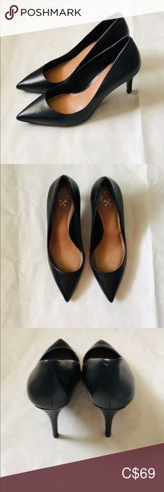 NWT Vince Camuto Pumps Vince Camuto Black Pumps. Leather up. New with Tag.  Promotion:  Buy 2 or more items and get one item under CAD$16 (mark as 🎁 ) for free. Plus 10% off on your whole order! Use Bundles to save!  Just add the gift item to your bundle and deduct the price of the gift when you send me an offer. Vince Camuto Shoes Heels Vince Camuto Shoes, Plus Fashion, Fashion Tips, Fashion Trends, Black Pumps, Promotion, Kitten Heels, Shoes Heels, Gift