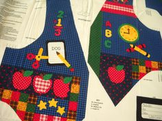 Kids' Back to School Vest Fabric Panel by by sowithlove on Etsy,
