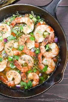 Bahama Breeze Skillet Simmered Jerk Shrimp | Inspiration Kitchen  #bahamabreeze #shrimp #skillet #appetizer