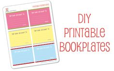 Free printable adorable book plates to label all of your children's books.  Just print on 8.5 x 11 label paper!