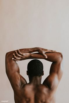 Rear view of black man holding his arms Body Photography, Portrait Photography, Black Photography, Men Photoshoot, Male Body, Black Is Beautiful, Human Body, Black Men, Rear View