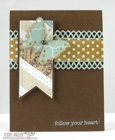 I like this lauout.  Delightful Inspiration: Follow your heart