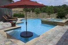 Vanishing Edge, Freeform and Geometric Swimming Pool Designs by Cody Pools, a pool builder in Austin, Dallas/Ft. Worth, San Antonio & Houston.