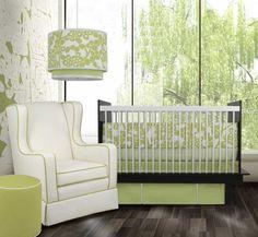 White and Pantone Greenery nursery, Target. http://www.kenisahome.com