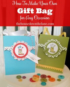 Did you know that you can create your own gift bag for any occasion? And it's simple! Check it out #ontheblog. thehousedownthelane.com