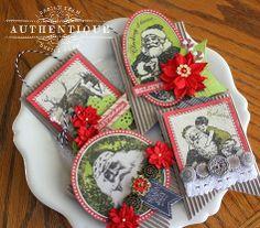 Joyous Ornaments by Authentique Paper Design Team member Shellye McDaniel