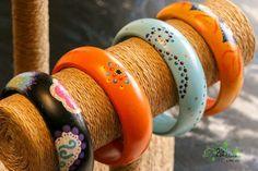 Bracelets bohemian en bois peint