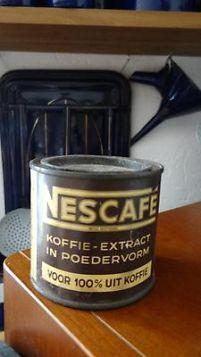 Oud blikje van Nescafe Nestlé.