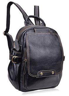PIJUSHI Fashion Leather Backpack Unisex Large Casual Backpacks 8812One Size  New Black    For more 894cde862cbea