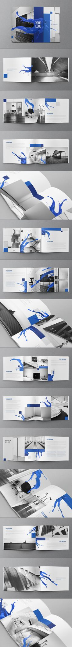 Creative Blue Fresh Brochure Design