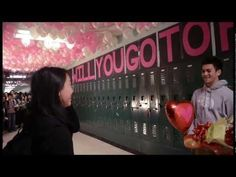 This guy deserves a freakin award.High School Balloons Prom Proposal (if he goes this far for just a prom date, you can only imagine his wedding proposal) Cute Prom Proposals, Homecoming Proposal, Prom Date, Prom Posals, Dance Proposal, Proposal Videos, High School Dance, School Dances, Prom Balloons