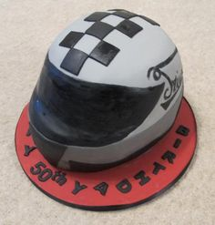 Motorcycle Helmet Birthday Cake