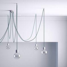 Stropný decentralizér - háčik pre textilné káble v bielej farbe (3) Transparent, Kit, Ceiling Lights, Ceiling Rose, White Ceiling, Track Lighting, Crochet, Chandelier, Textiles