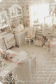 I believe this craft room of my dreams is from elfenpulver on Trios Petites Filles A little space of my own http://triospetitesfilles.blogspot.com