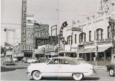 Downtown Las Vegas, c. 1954