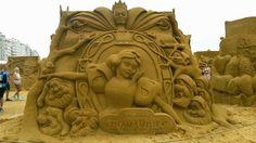 Snow White Disney Sand Sculpture, Sand Sculpture Festival Ostend Belgium