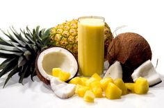 Pure Pina Colada Smoothie - delicious tropical flavor with almond milk and pineapple - no funky protein aftertaste as it uses PURE Unflavored Whey Protein Isolate