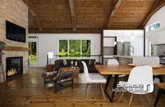 32+ best ideas kitchen open floor wood beams