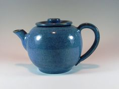 Large Denim Blue Ceramic Teapot  Handmade by ClaycrazyPottery, $75.00